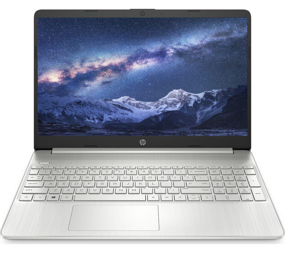 "Image of HP 15s-eq1510sa 15.6"" Laptop - AMD Ryzen 5, 256 GB SSD, Silver, Silver"