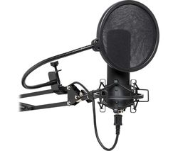 SUM45 Cardioid USB Microphone Set - Black