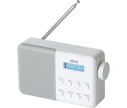 AKAI A61041G Portable DAB Radio - White