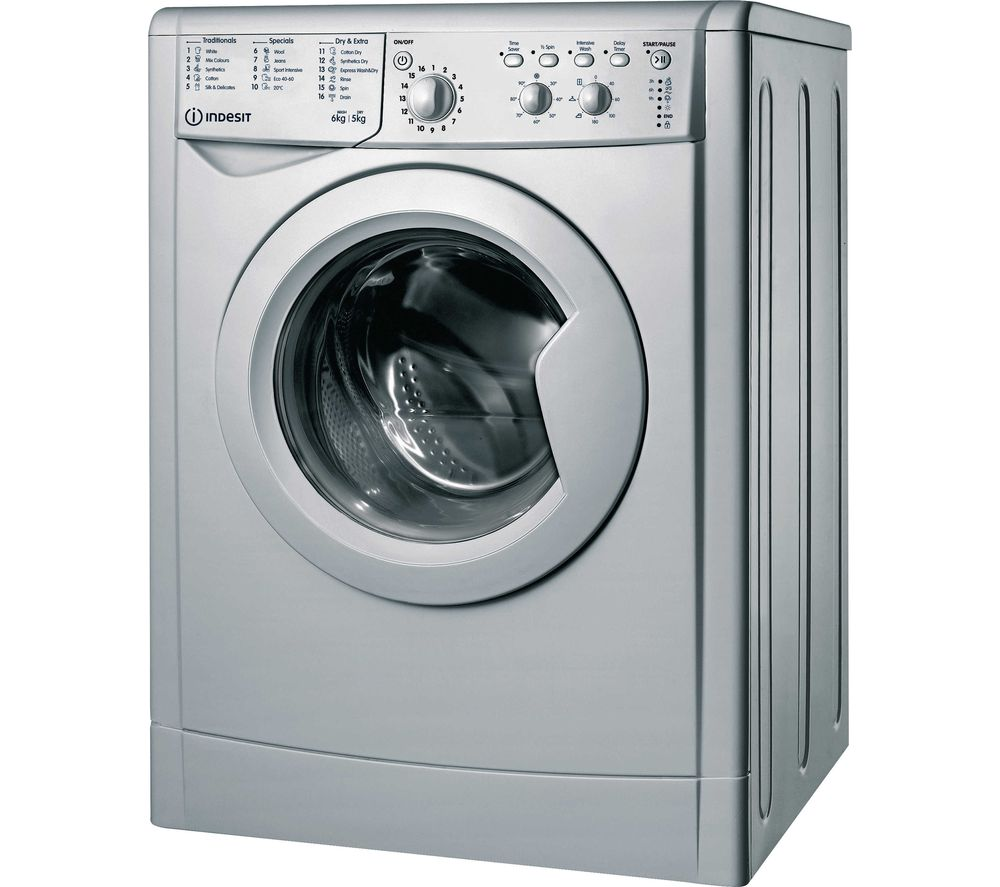 INDESIT Ecotime IWDC 65125 6 kg Washer Dryer - Silver, Silver