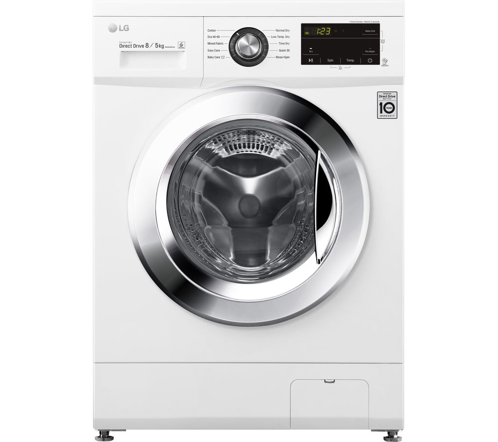 LG Direct Drive FWMT85WE 8 kg Washer Dryer - White