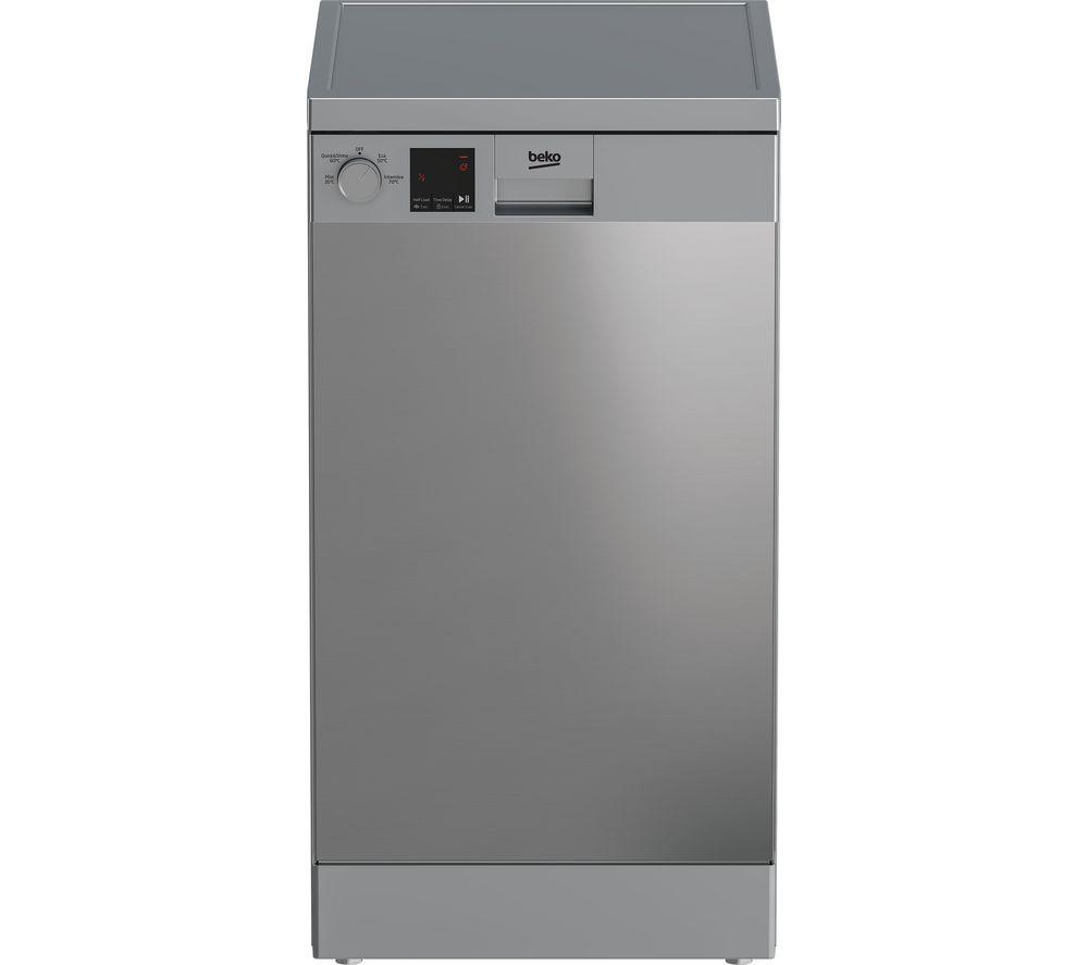 BEKO DVS04X20X Slimline Dishwasher - Stainless Steel