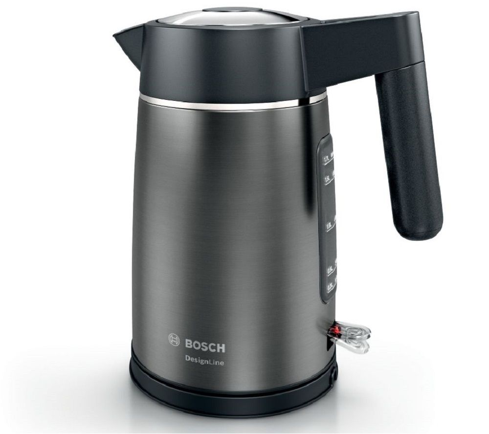BOSCH DesignLine TWK5P475GB Jug Kettle - Black & Anthracite, Black