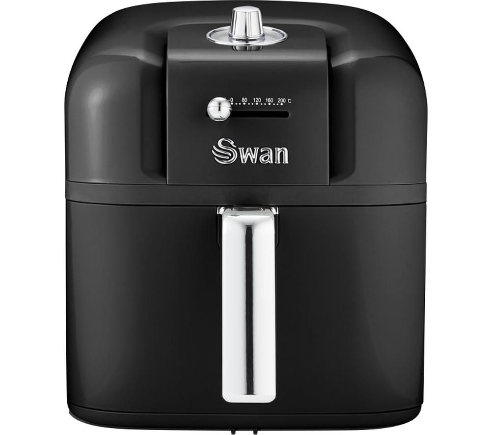 SWAN Retro SD10510BN Air Fryer - Black, Black