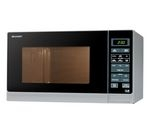 SHARP R372SLM Compact Solo Microwave - Silver