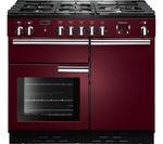 RANGEMASTER Professional+ 100 Dual Fuel Range Cooker - Cranberry & Chrome