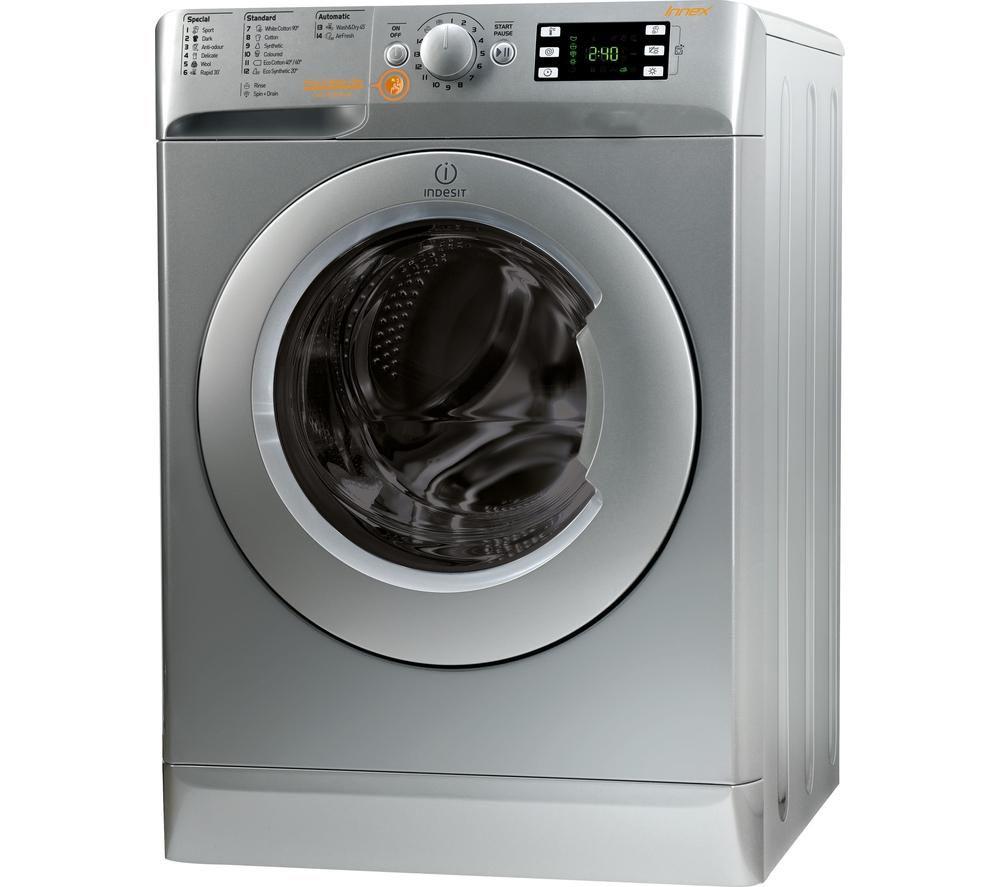 Indesit Washer Dryer Innex XWDE861480XS - Silver, Silver