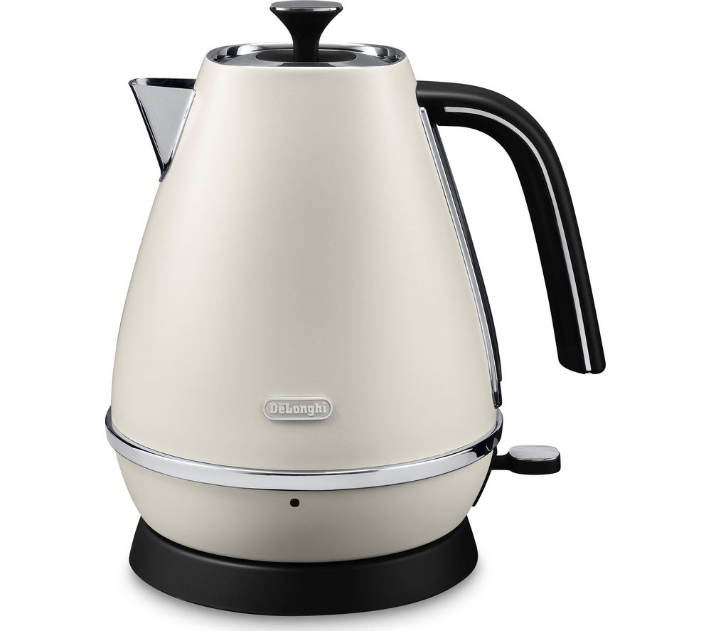 DELONGHI Distinta KBI3001.W Jug Kettle – White + Distinta CTI4003.W 4-Slice Toaster - White