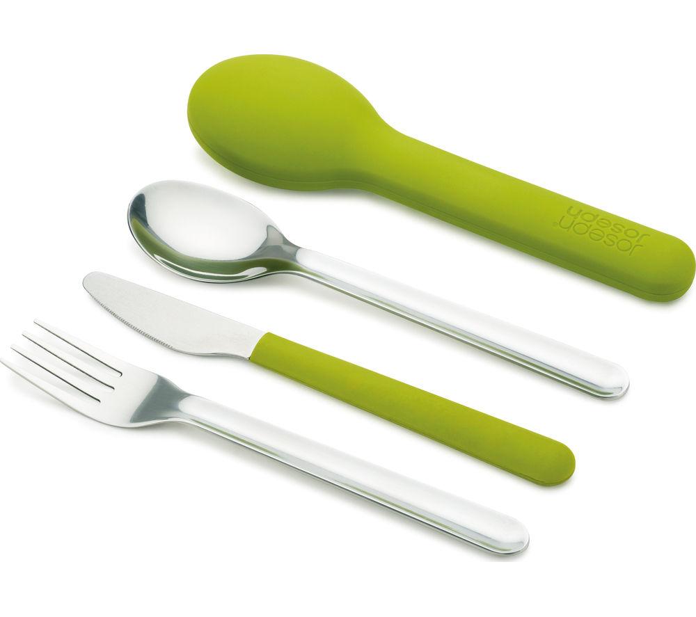 JOSEPH JOSEPH GoEat 81033 Compact Cutlery Set - Green