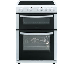 LOGIK LFTC60W16 60 cm Electric Ceramic Cooker - White Best Price, Cheapest Prices