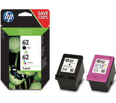 62 Black & Tri-colour Ink Cartridges - Twin Pack