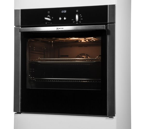 buy neff b44s32n5gb slide hide electric oven stainless steel free delivery currys. Black Bedroom Furniture Sets. Home Design Ideas