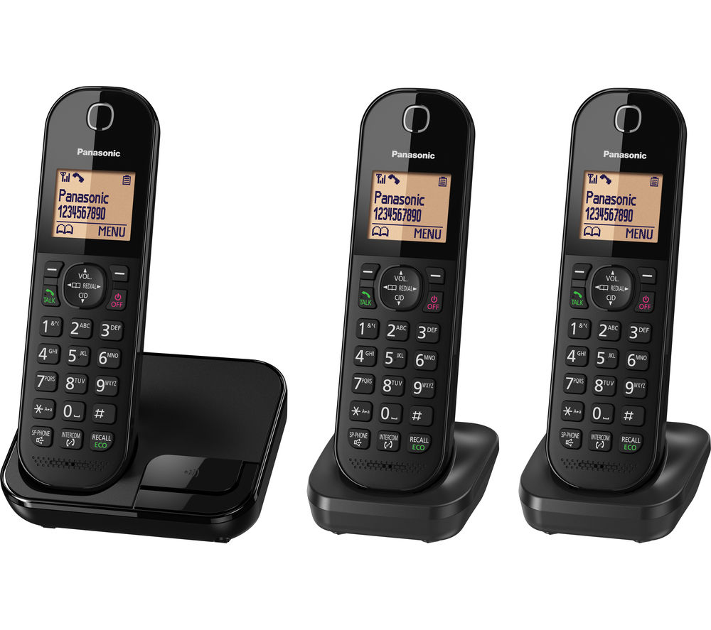 PANASONIC KX-TGC413EB Cordless Phone - Triple Handsets