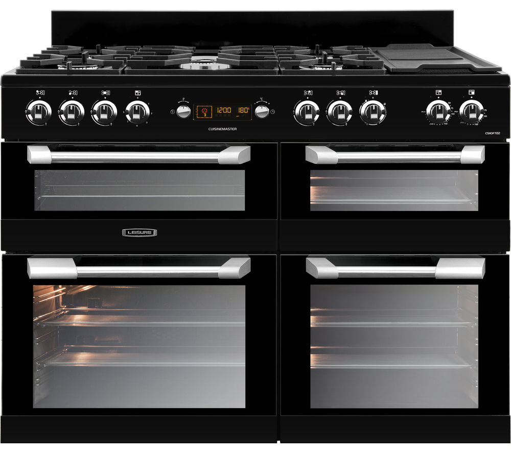 Compare retail prices of Leisure Cuisinemaster CS110F722K 110cm Dual Fuel Range Cooker to get the best deal online