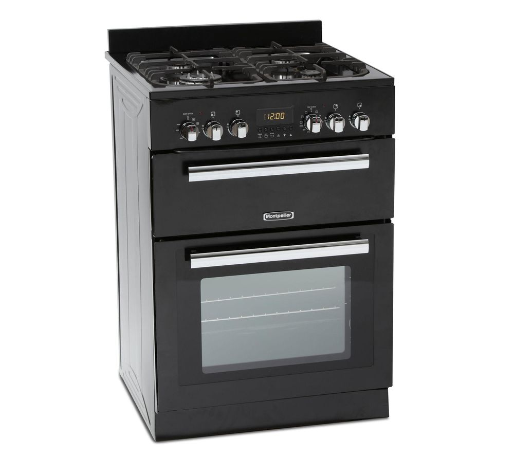 MONTPELLIER RMC60DFK 60 cm Dual Fuel Cooker - Black & Stainless Steel