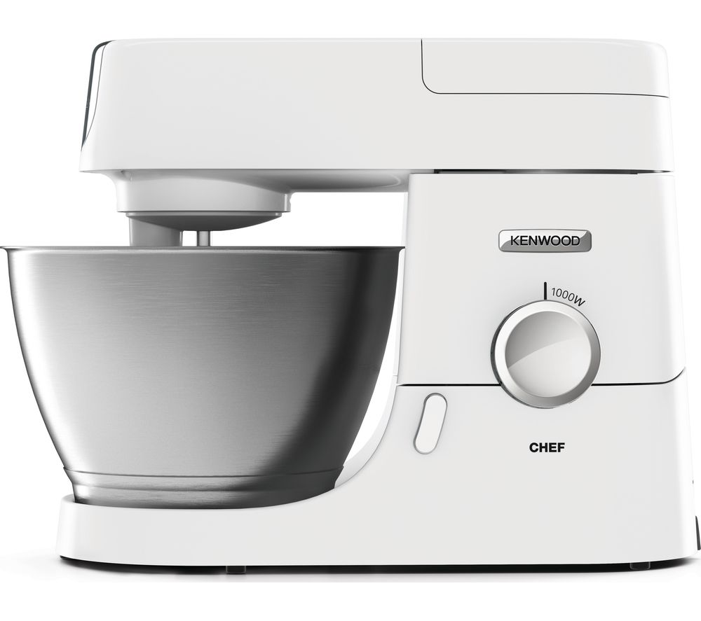 KENWOOD Chef Premier KVC3100W Stand Mixer - White + KAH647PL Food Processor Kitchen Machine Attachment