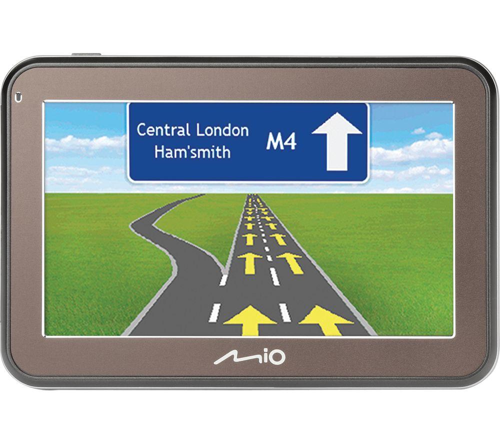 "MIO Spirit 7500 LM EU 5"" Sat Nav - Western Europe Maps + LUCAR11 Universal GPS Sat Nav Adaptor - with In-Car Connection"