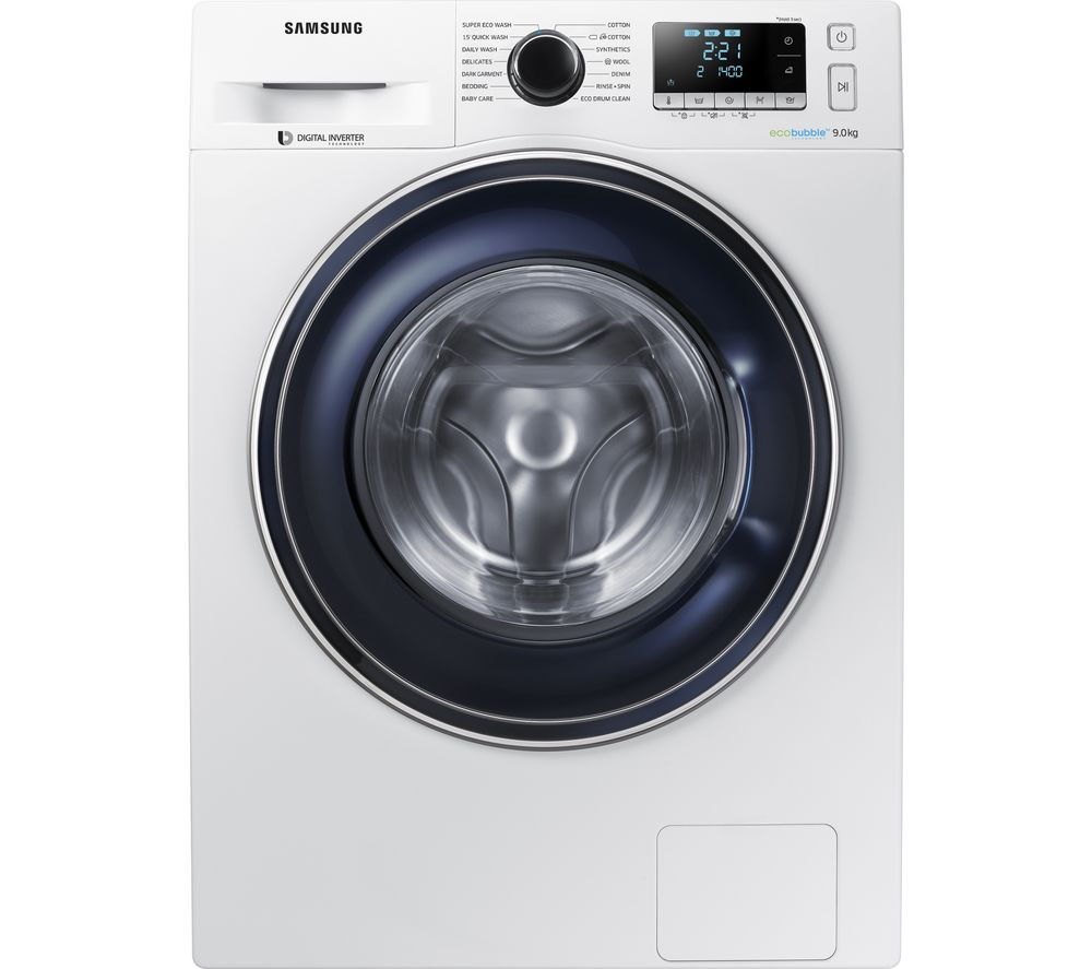 SAMSUNG ecobubble WW90J5456FW/EU 9 kg 1400 Spin Washing Machine - White