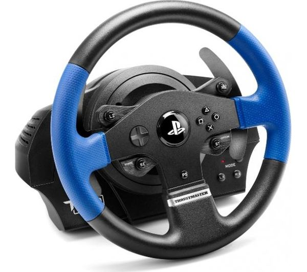 buy thrustmaster t150 rs racing wheel pedals black blue free delivery currys. Black Bedroom Furniture Sets. Home Design Ideas