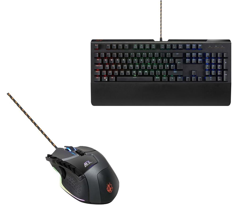 AFX MK0217 Mechanical Gaming Keyboard & Laser Gaming Mouse Bundle