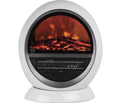 STATUSINT Flame Effect Oscillating Fan Heater - White