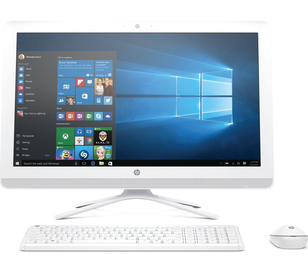 "HP 24-e080na 24"" All-in-One PC - White + Office 365 Personal - 1 year for 1 user"