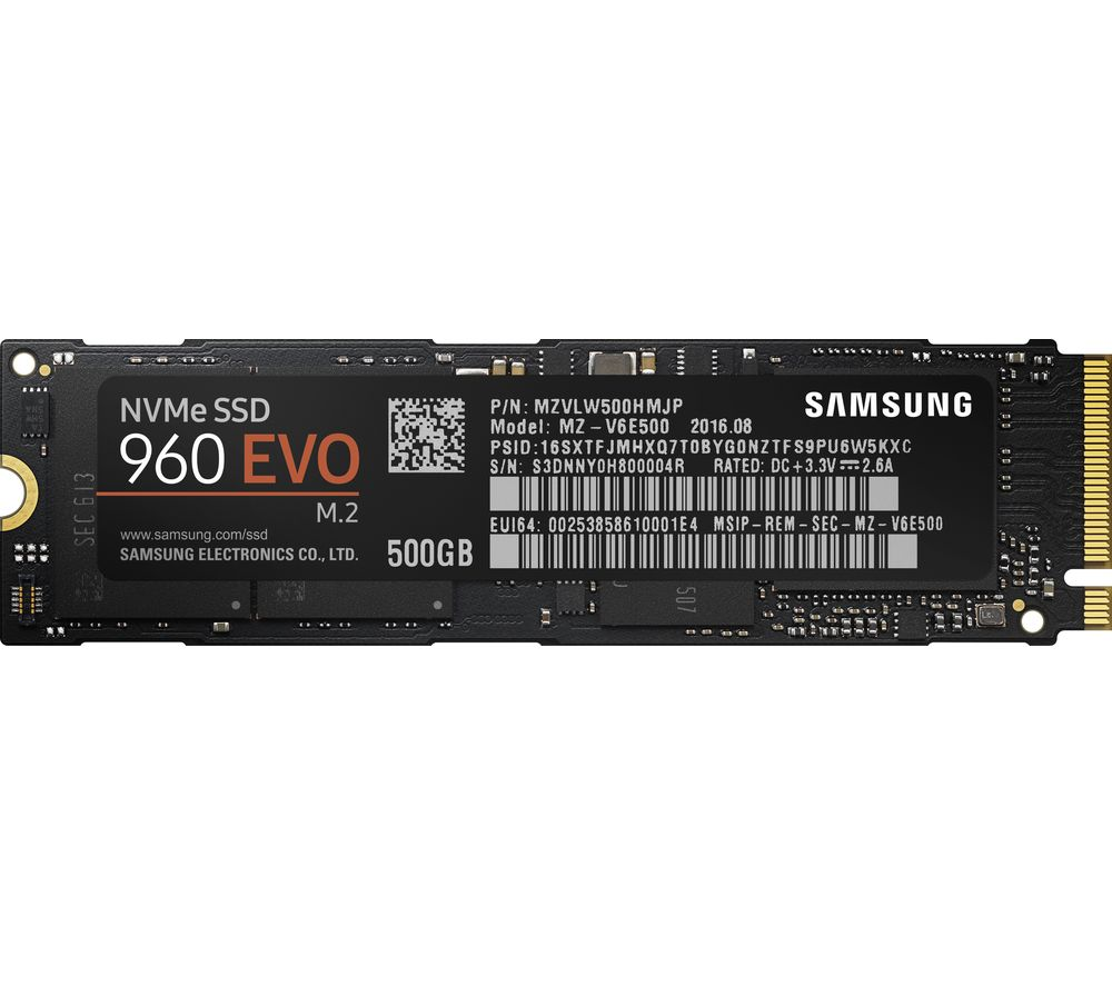 "SAMSUNG 960 Evo 2.5"" Internal SSD - 500 GB"