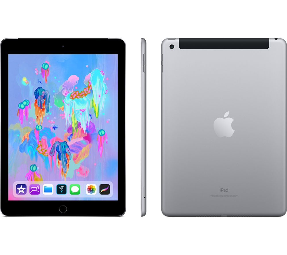 "APPLE 9.7"" iPad Cellular (2018) - 32 GB, Space Grey"