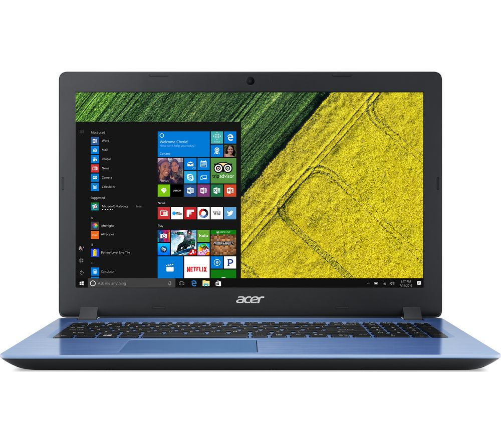 "Image of ACER Aspire 3 15.6"" Intel® Core™ i3 Laptop - 256 SSD, Blue, Blue"