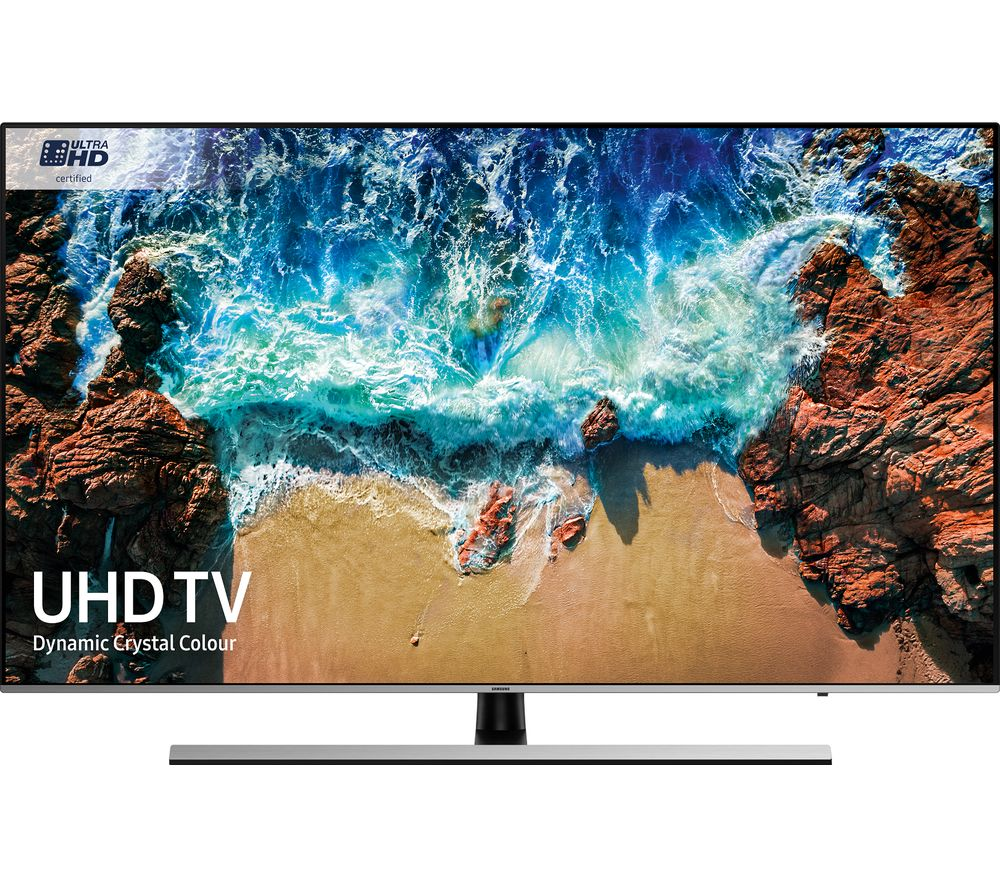 """SAMSUNG UE65NU8000 65"""" Smart 4K Ultra HD HDR LED TV + S1HDM315 HDMI Cable with Ethernet - 1 m"""