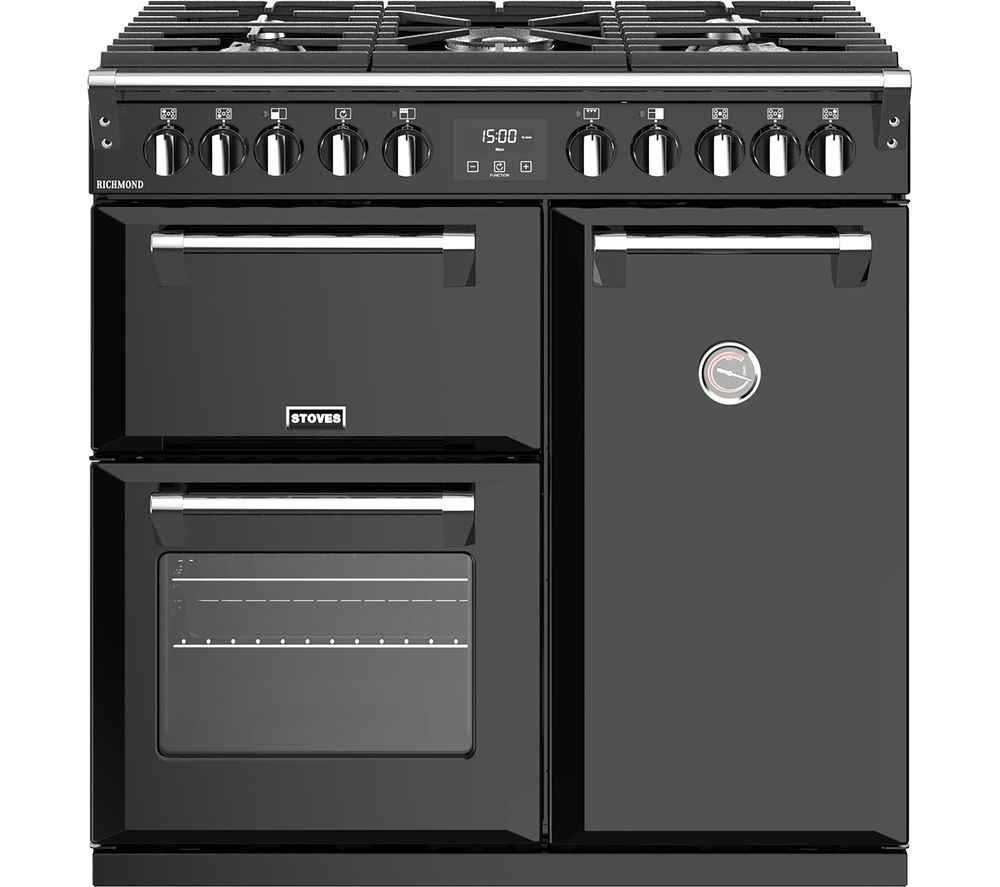 STOVES Richmond S900DF CC 90 cm Dual Fuel Range Cooker - Black