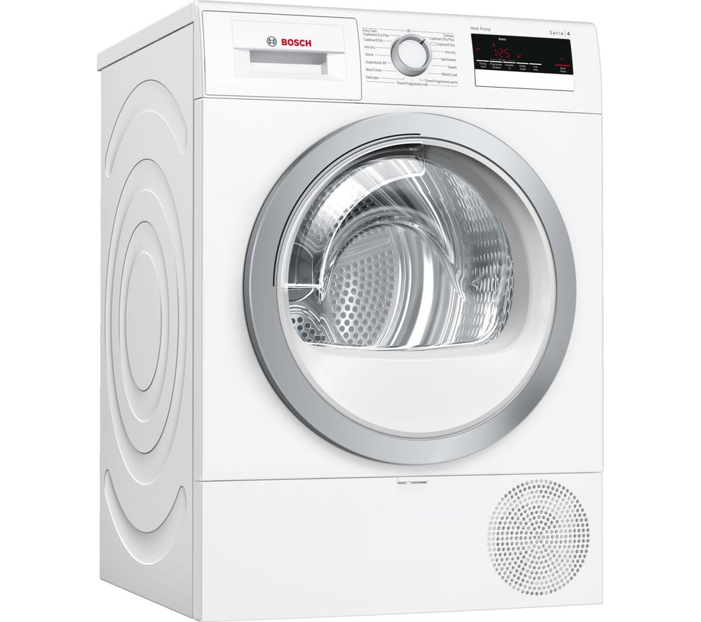 BOSCH Serie 4 WTR85V21GB 8 kg Heat Pump Tumble Dryer - White