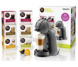 DOLCE GUSTO by Krups Mini Me KP120841 Coffee Machine Starter Kit - Black & Grey