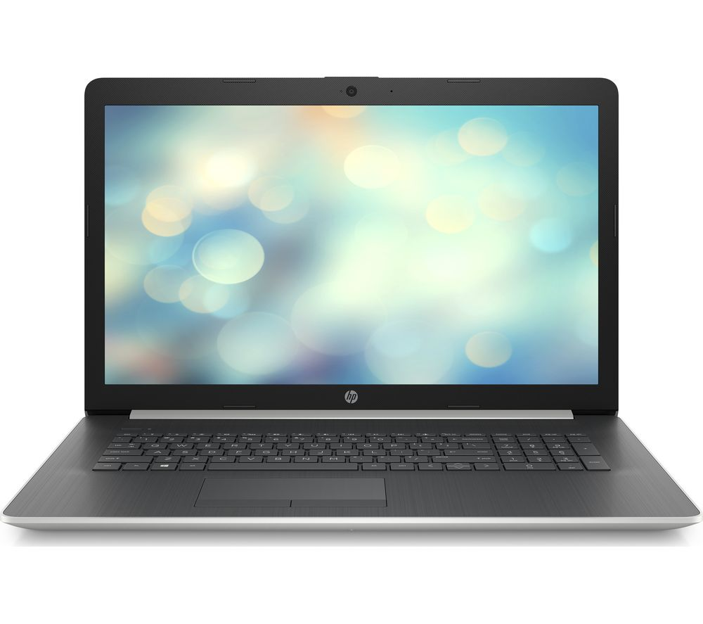 "Image of HP 17-ca1500na 17.3"" AMD Ryzen 5 Laptop - 1 TB HDD & 256 GB SSD, Silver, Silver"