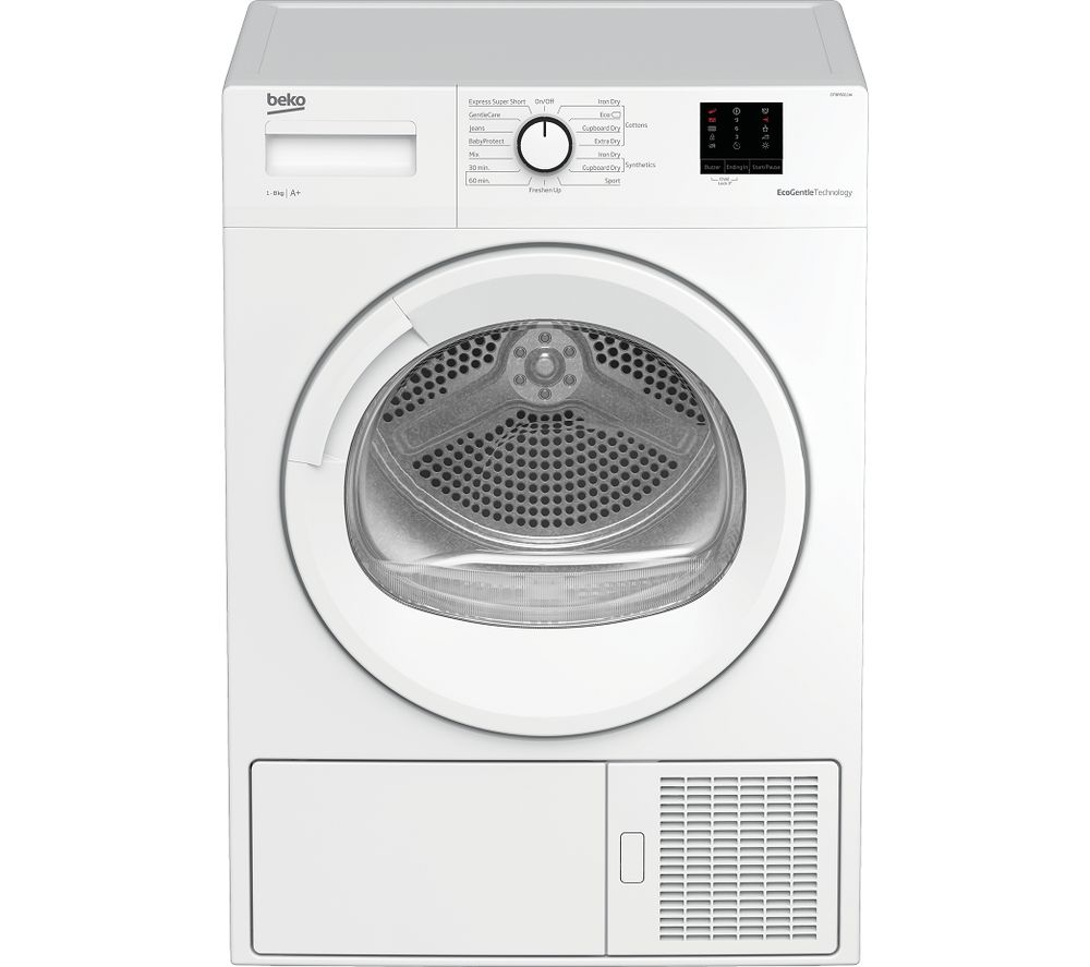 Image of BEKO Pro DTBP8011W 8 kg Heat Pump Tumble Dryer - White, White