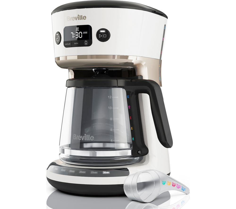 BREVILLE Mostra Easy Measure Filter Coffee Machine VCF116 - White