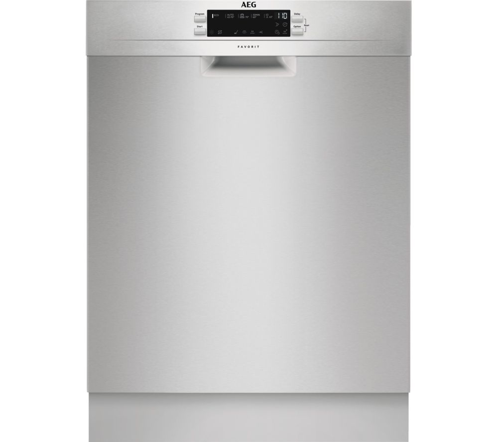AEG FFB53940ZM Full-size Dishwasher - Stainless Steel