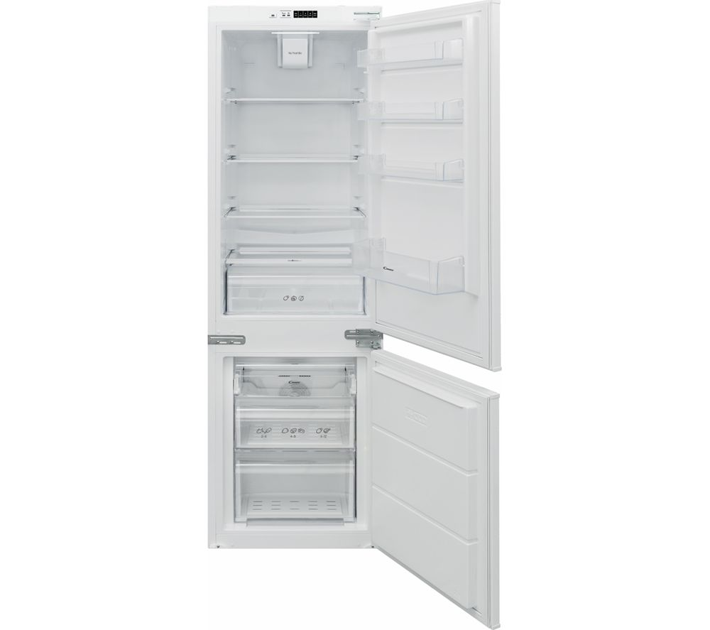 CANDY BCBF 174 FTK Integrated 70/30 Fridge Freezer - Sliding Hinge, Transparent