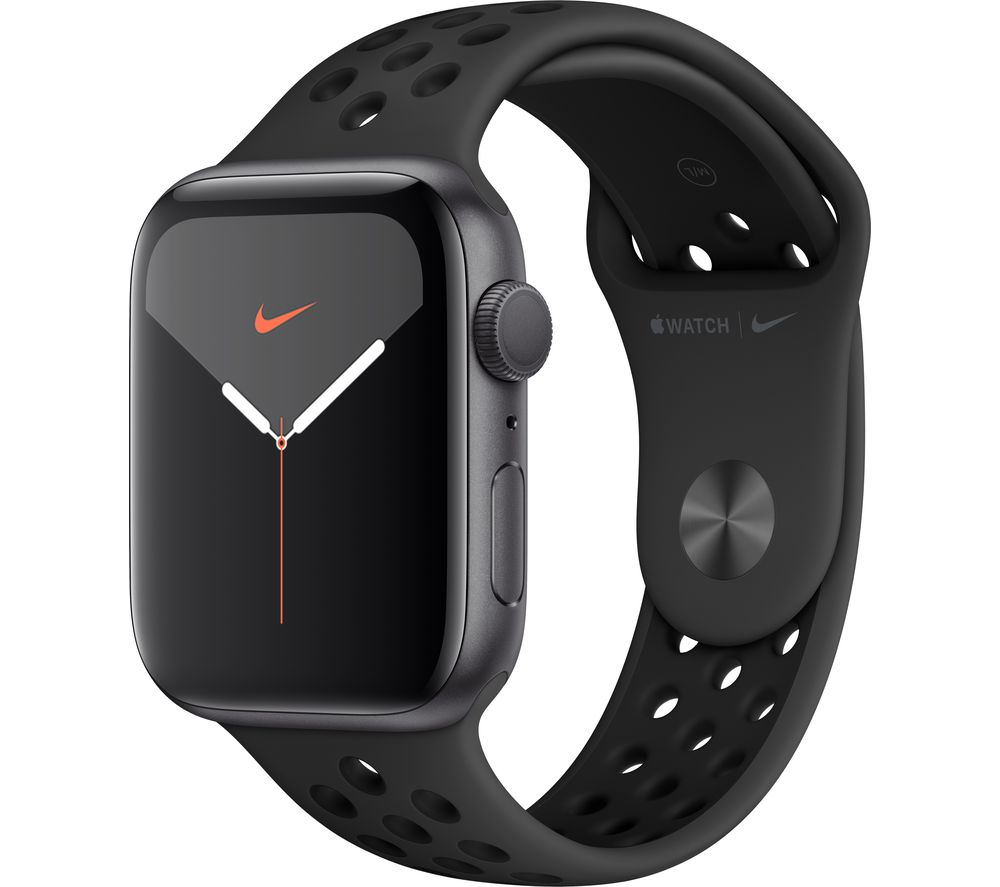 APPLE Watch Series 5 - Space Grey with Anthracite & Black Nike Sports Band, 44 mm