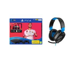 SONY Playstation 4 with FIFA 20, Two Wireless Controllers & Gaming Headset Bundle - 500 GB