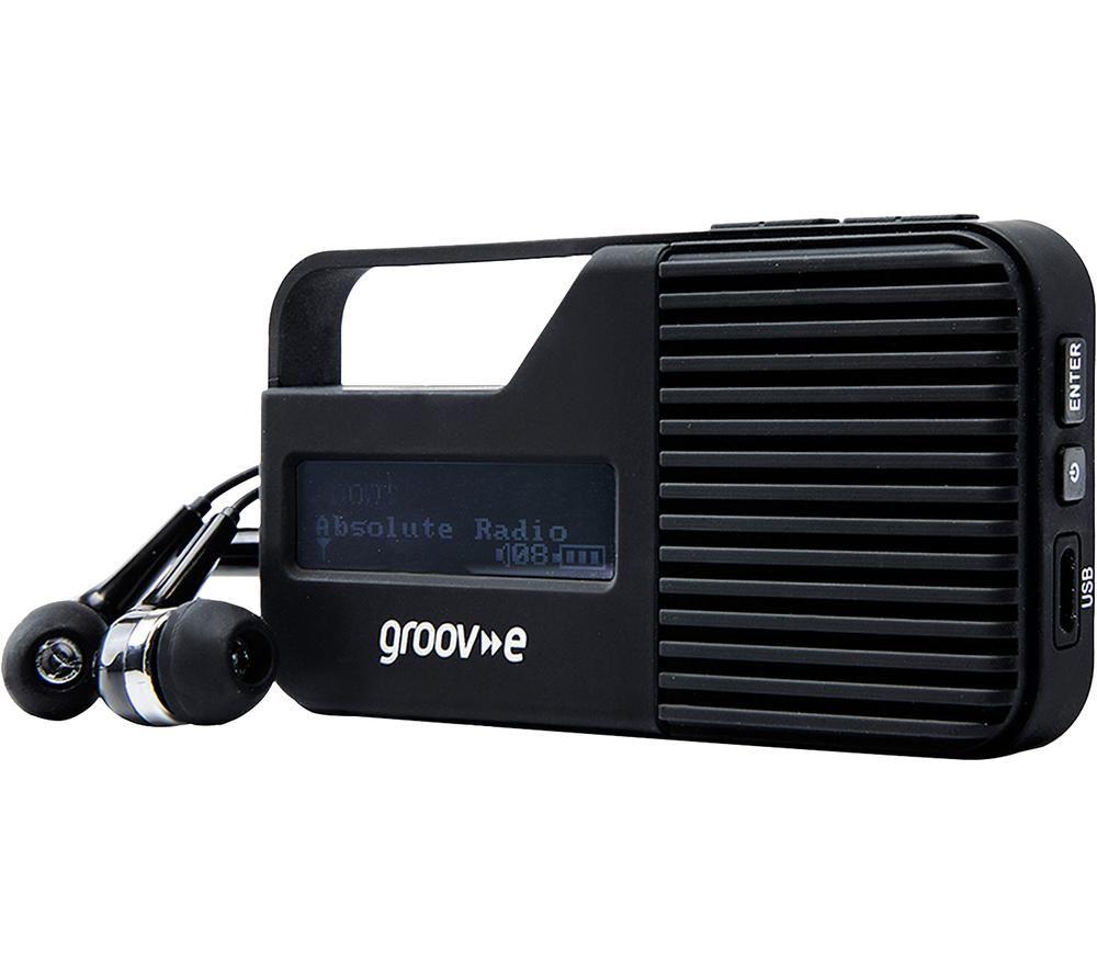 Image of GROOV-E Rio GV-DR01-BK Portable Radio - Black, Black