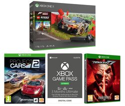 MICROSOFT Xbox One X, Forza Horizon 4, LEGO Speed Champions, Tekken 7, Project Cars 2 & Xbox One Game Pass Ultimate Bundle
