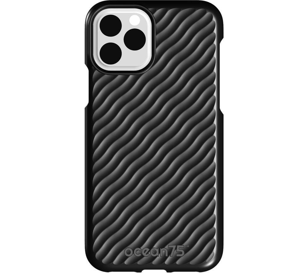 Image of Ocean Wave iPhone 11 Pro Case - Deep Black, Black