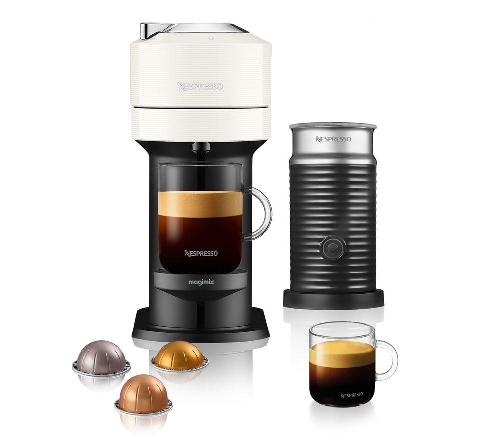 NESPRESSO by Magimix Vertuo Next & Milk Coffee Machine - White, White