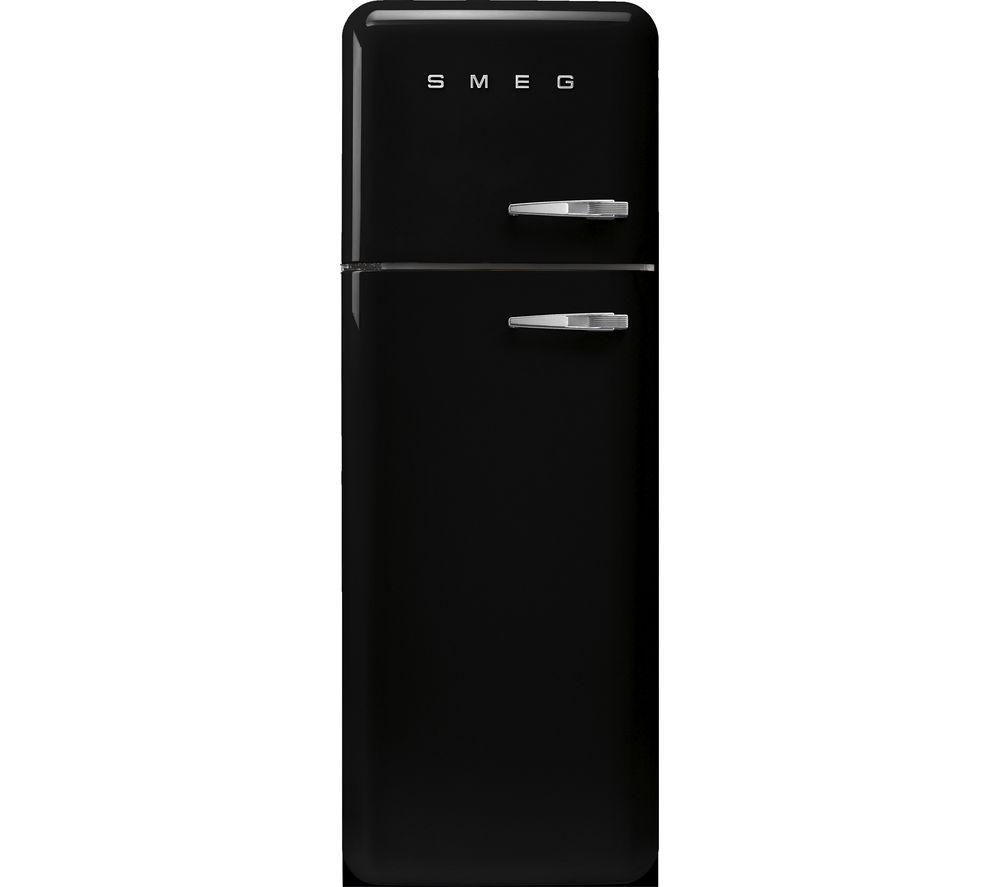 SMEG FAB30LBL5UK 80/20 Fridge Freezer – Black, Black