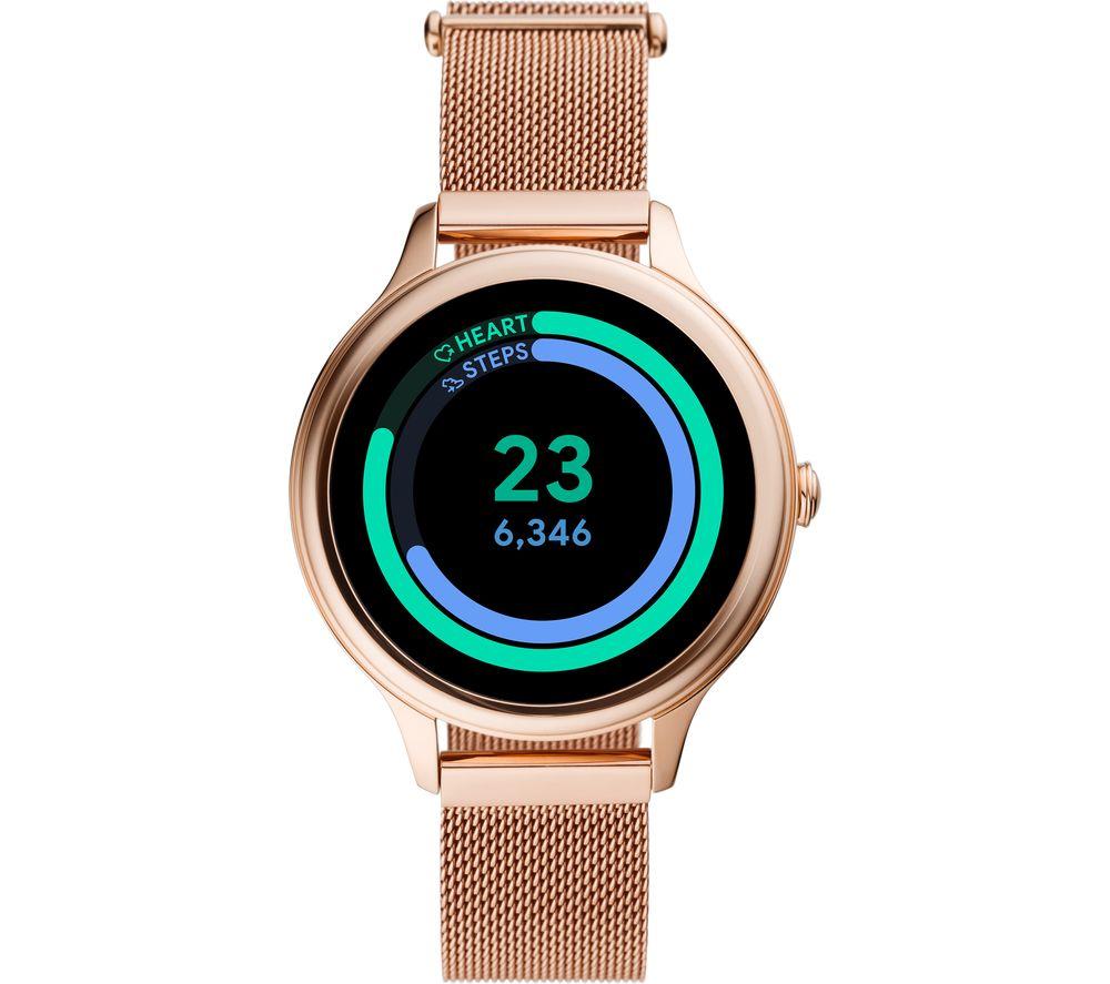 FOSSIL Gen 5E FTW6068 Smartwatch - Rose Gold, Mesh Strap