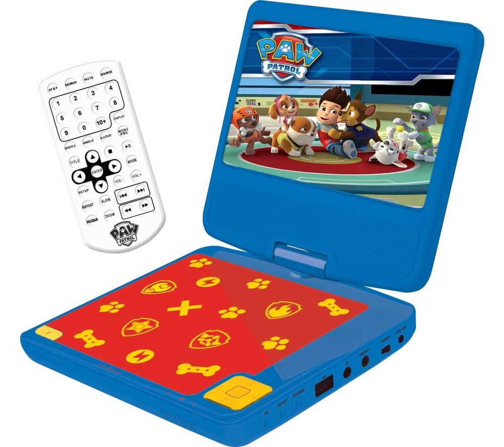 LEXIBOOK DVDP6PA Portable DVD Player - Paw Patrol
