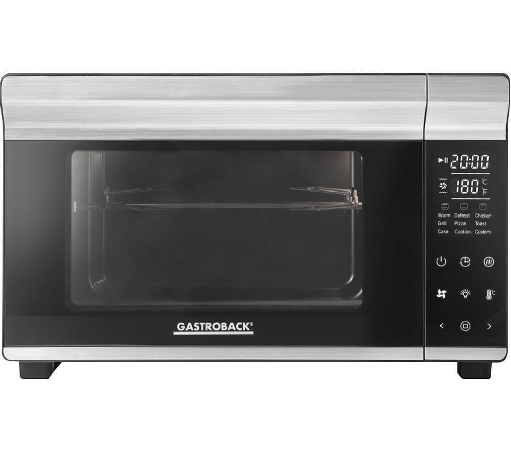 GASTROBACK Design Bistro 42814 Compact Electric Oven - Black & Silver, Black