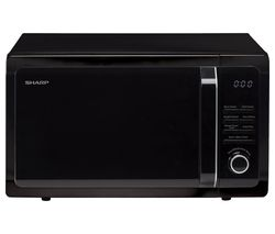 R764KM Compact Microwave with Grill - Black