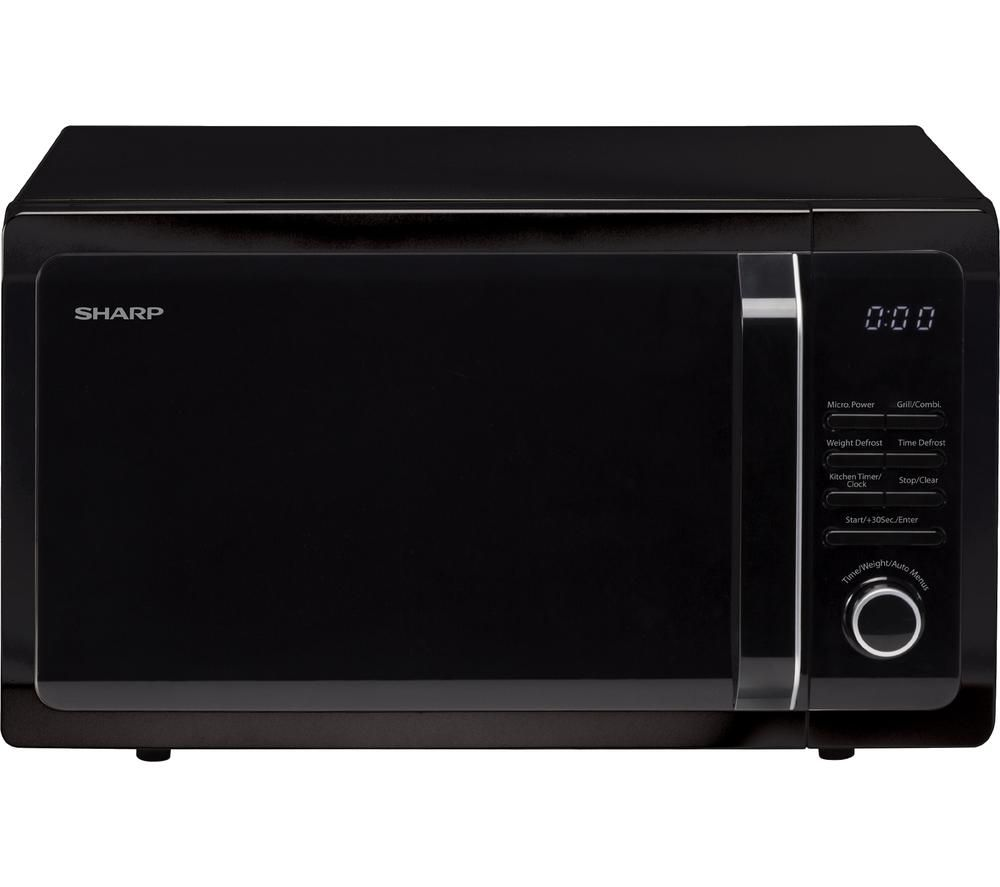 SHARP R764KM Compact Microwave with Grill - Black